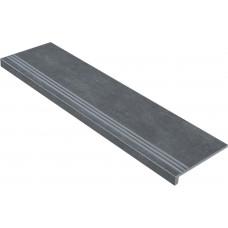 Ступени с капиносом Гранит Стоун Цемент Темно-Серый 1200х320