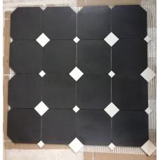 Плитка Дина Фон 392х392 Метлаха (Черный)