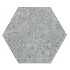 Hexagon Цемент Декор Серый 300x260