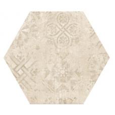 Hexagon Цемент Декор Беж 300x260