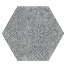 Hexagon Цемент Декор Темно-серый 300x260 Шестигранник