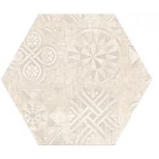 Hexagon Цемент Декор Светло-беж. 300x260 Шестигранник
