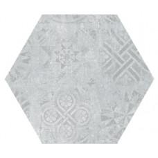 Hexagon Цемент Декор Светло-серый 300x260
