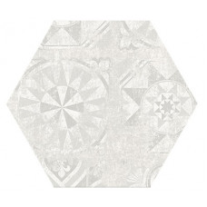 Hexagon Цемент Декор Белый 300x260 Шестигранник