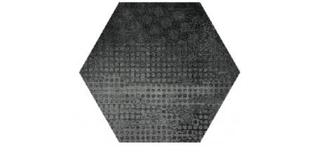 Hexagon Оксидо Декор Черный LLR 300x260 Шестигранник