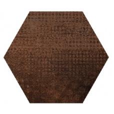 Hexagon Оксидо Декор Коричневый LLR 300x260 Шестигранник