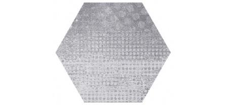 Hexagon Оксидо Декор Светло-Серый LLR 300x260 Шестигранник
