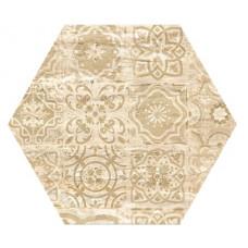 Hexagon Травертин Декор Беж 300x260