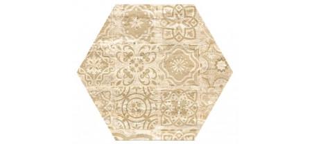 Hexagon Травертин Декор Беж 300x260 Шестигранник