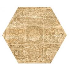 Hexagon Травертин Декор Медовый 300x260 Шестигранник