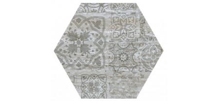 Hexagon Травертин Декор Серебро 300x260 Шестигранник