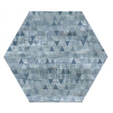 Hexagon Вуд Эго Декор Синий 300x260