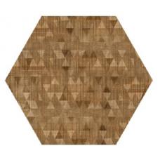 Hexagon Вуд Эго Декор Коричневый 300x260 Шестигранник