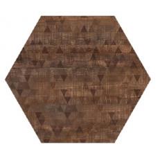 Hexagon Вуд Эго Декор Темно-Коричневый 300x260 Шестигранник