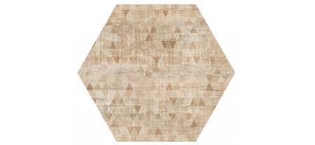 Hexagon Вуд Эго Декор Светло-Бежевый 300x260 Шестигранник