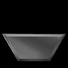 Зеркальная плитка Полусота Графитовая (П)