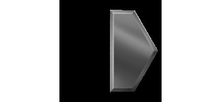 Зеркальная плитка Полусота Графитовая (У)