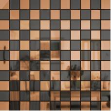 Зеркальная мозаика Бронза-Графит Микс № 2