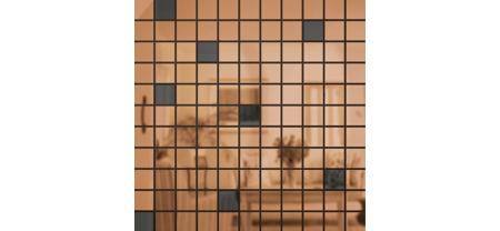 Зеркальная мозаика Бронза-Графит Микс № 1