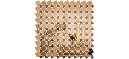 Зеркальная мозаика Бронза-Графит Микс № 3