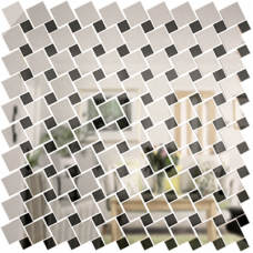 Зеркальная мозаика Графит-Серебро Микс № 3