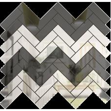 Зеркальная мозаика Графит-Серебро ЕЛКА