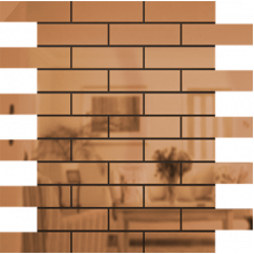 Зеркальная мозаика Бронза | Чип 80х25