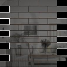 Зеркальная мозаика Графит | Чип 80х25