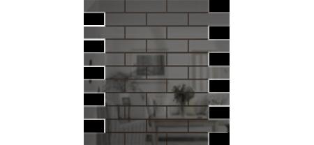 Зеркальная мозаика Графит   Чип 80х25