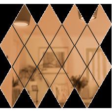 Зеркальная мозаика Бронза РОМБ