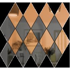 Зеркальная мозаика Бронза-Графит РОМБ