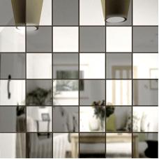 Зеркальная мозаика Графит-Серебро Микс № 2