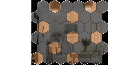 Зеркальная мозаика Бронза-Графит СОТА
