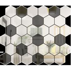 Зеркальная мозаика Графит-Серебро СОТА